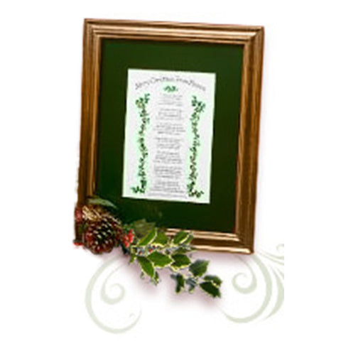 mooney tunco merry christmas from heaven 8 x 10 green matte framed poem retired