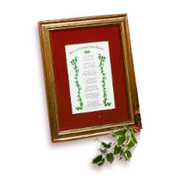 Mooney TunCo Merry Christmas from Heaven 8 x 10 Red Matte Framed Poem - Centerville C&J Connection, Inc.