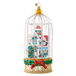Snowy Victorian Cage Ornament - Centerville C&J Connection, Inc.
