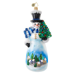 Starry Skies Snowman Ornament - Centerville C&J Connection, Inc.