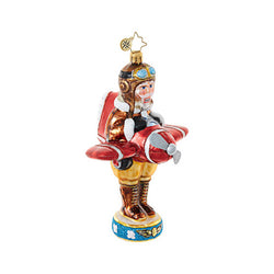 Flying Ace Nutcracker Ornament - Centerville C&J Connection, Inc.