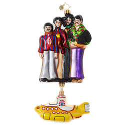 Yellow Submarine with The Beatles Ornament - Centerville C&J Connection, Inc.