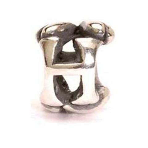 Letter Bead, H - Trollbeads Silver Bead - Centerville C&J Connection, Inc.