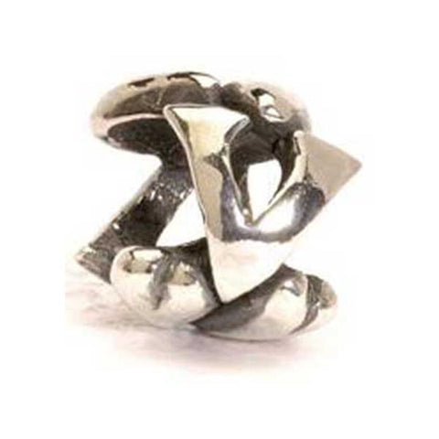 Letter Bead, V - Trollbeads Silver Bead - Centerville C&J Connection, Inc.