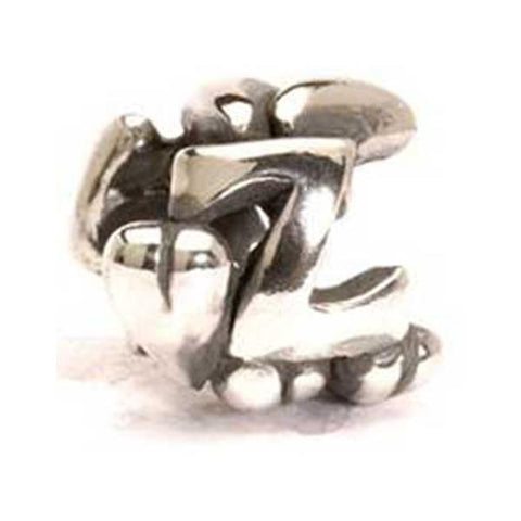 Letter Bead, Z - Trollbeads Silver Bead - Centerville C&J Connection, Inc.