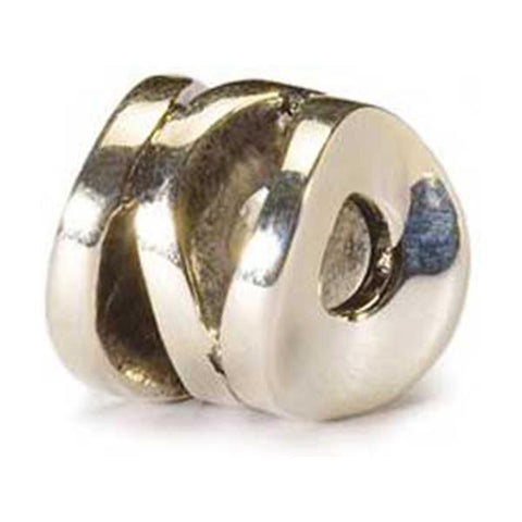 Smiling Cylinder - Trollbeads Silver Bead - Centerville C&J Connection, Inc.