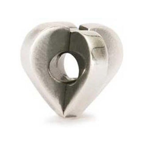 Double Heart - Trollbeads Silver Bead - Centerville C&J Connection, Inc.