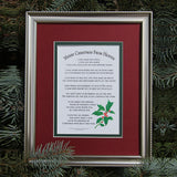 Merry Christmas From Heaven Matte Framed Poem - Centerville C&J Connection, Inc.