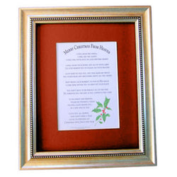 Mooney TunCo Merry Christmas from Heaven 16 x 20 Red Matte Framed Poem Retired - Centerville C&J Connection, Inc.