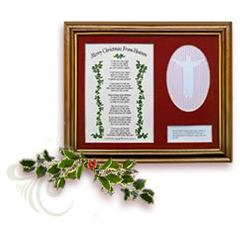 Mooney TunCo Merry Christmas from Heaven Remembrance Version 8 x 10 Red Matte Framed Poem Retired - Centerville C&J Connection, Inc.