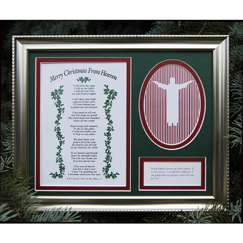 Christmas From Heaven.Merry Christmas From Heaven 8 X 10 Framed Remembrance Poem W Picture