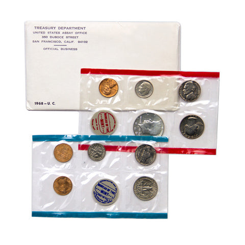 1968 Uncirculated Coin Set - Centerville C&J Connection, Inc.