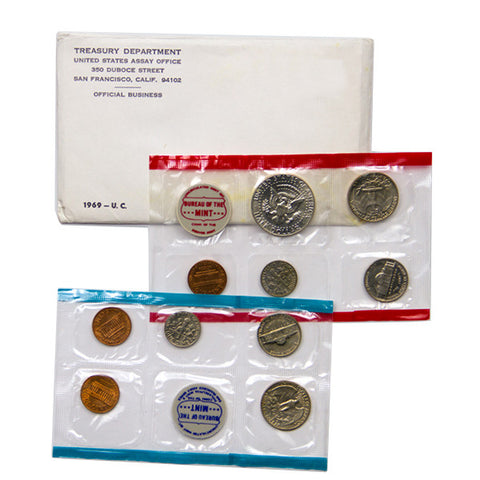 1969 Uncirculated Coin Set - Centerville C&J Connection, Inc.