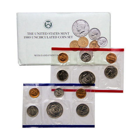 1989 Uncirculated Coin Set - Centerville C&J Connection, Inc.