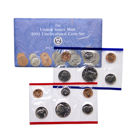 1991 Uncirculated Coin Set - Centerville C&J Connection, Inc.