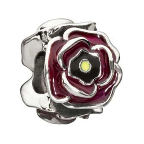 Simply Rosy Enameled Burgundy Bead - Centerville C&J Connection, Inc.