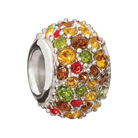 Silver Jeweled Kaleidoscope Fresco - Chamilia Bead - Centerville C&J Connection, Inc.