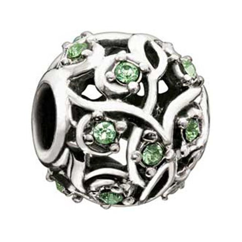 Cabaret Collection Leaves & Vines Peridot - Chamilia Bead - Centerville C&J Connection, Inc.