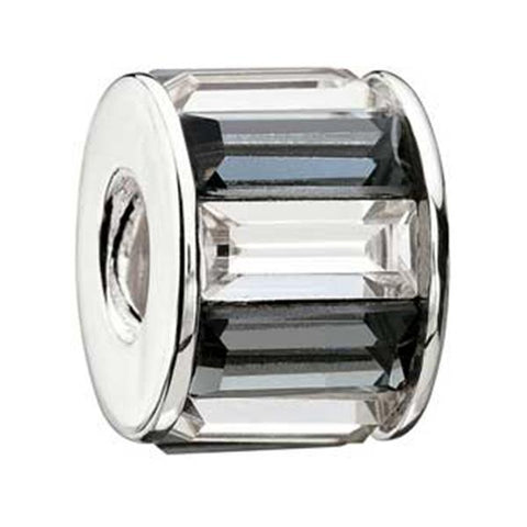 Glamour Indulgence Black & White Crystal Bead - Chamilia - Centerville C&J Connection, Inc.