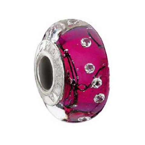 Soho City Lights Fuchsia Steel Murano Bead - Chamilia - Centerville C&J Connection, Inc.