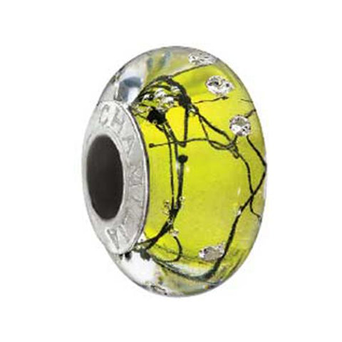 Soho City Lights Yellow Steel Murano Bead - Chamilia - Centerville C&J Connection, Inc.