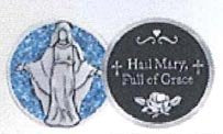 Hail Mary Enameled Companion Coin / Pocket Token PT687 - Centerville C&J Connection, Inc.
