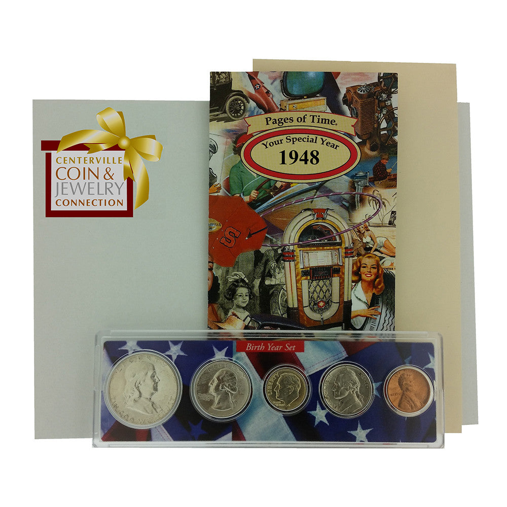 1948 Year Coin Set & Greeting Card : 69th Birthday Or 69th