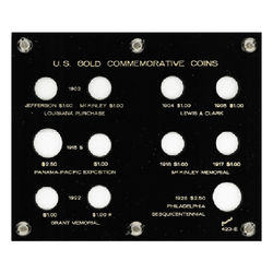 Commemorative Gold Coins (9-$1, 2-$2 1/2 Gold) Capital Plastics Coin Holder - Black - Centerville C&J Connection, Inc.