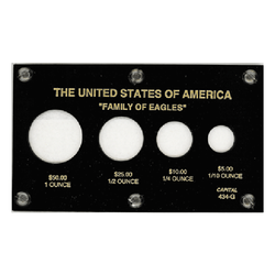 American Family Of Eagles 1 oz. - 1/10 oz. Capital Plastics Coin Holder - Black - Centerville C&J Connection, Inc.