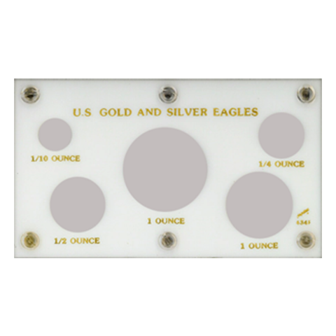U.S. Gold & Silver Eagles Capital Plastics Coin Holder - White - Centerville C&J Connection, Inc.