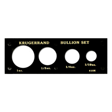 Krugerrand Gold Set (1 oz. - 1/10 oz.) Capital Plastics Coin Holder - Black - Centerville C&J Connection, Inc.