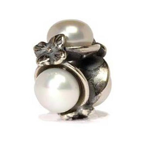 Triple Pearl - Trollbeads White Silver & Stone Bead - Centerville C&J Connection, Inc.