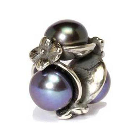 Triple Pearl - Trollbeads Black Silver & Stone Bead - Centerville C&J Connection, Inc.