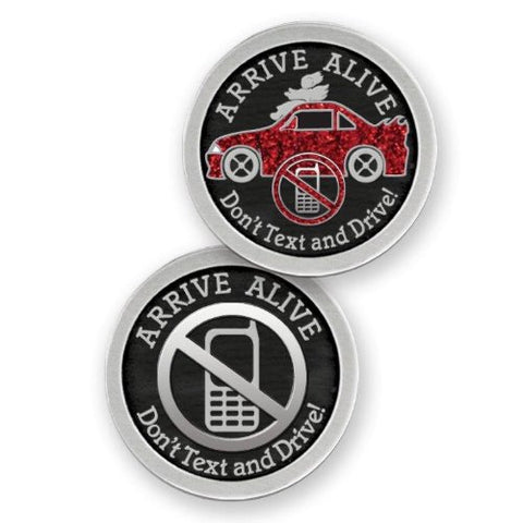 Arrive Alive Enameled Companion Coin / Pocket Token PT674 - Centerville C&J Connection, Inc.