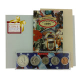 1955 Year Coin Set & Greeting Card : 62nd Birthday or 62nd Anniversary Gift - Centerville C&J Connection, Inc.