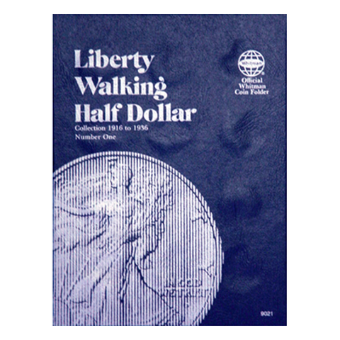 Liberty Walking Half Dollar No. 1, 1916-1936 Whitman Coin Folder - Centerville C&J Connection, Inc.