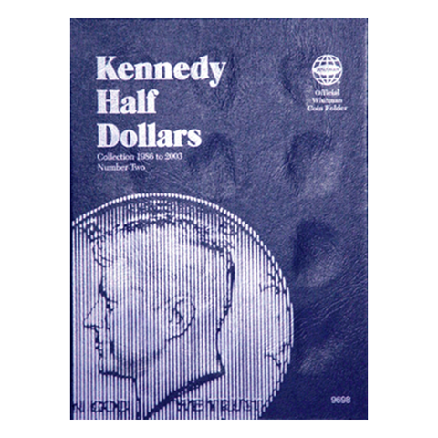 Kennedy Half Dollar No. 2, 1986-2003 Whitman Coin Folder - Centerville C&J Connection, Inc.