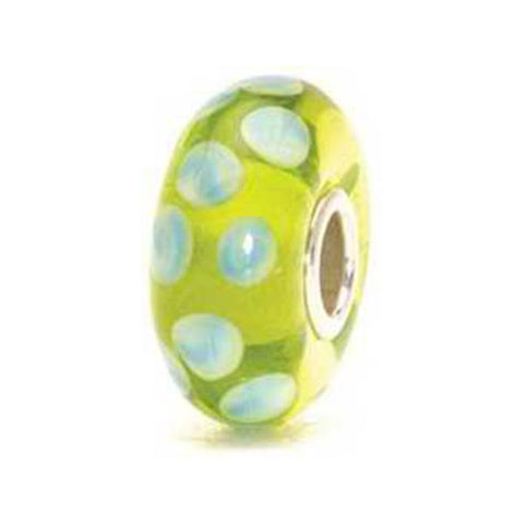Turquoise Green Dot - Trollbeads Glass Bead - Centerville C&J Connection, Inc.