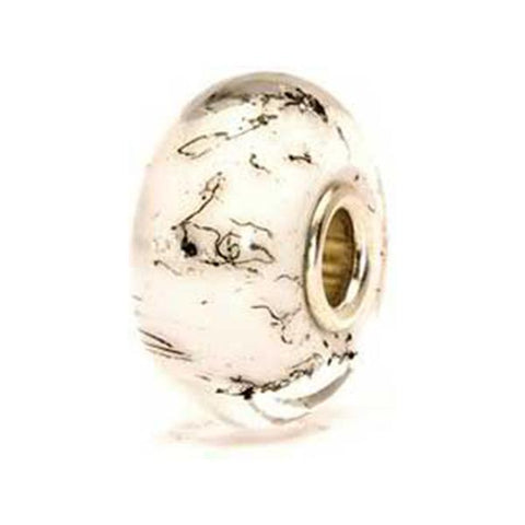 White Steel - Trollbeads Glass Bead - Centerville C&J Connection, Inc.