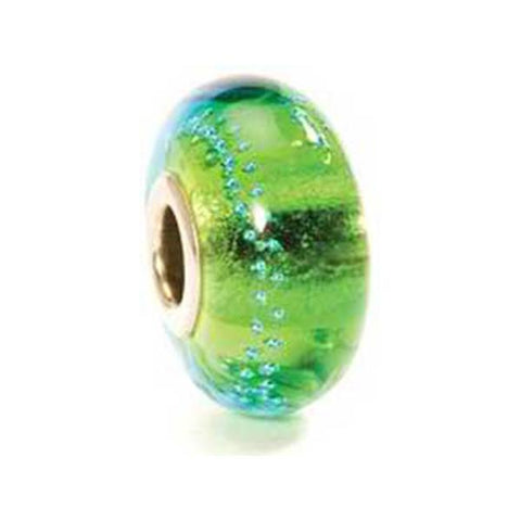 Silver Trace Green/Turquoise - Trollbeads Glass Bead - Centerville C&J Connection, Inc.