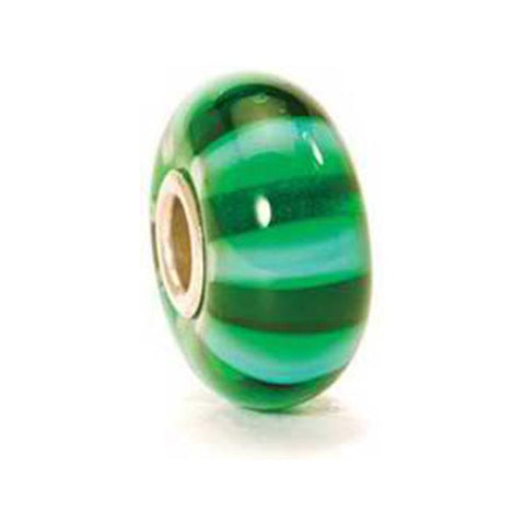 Green Stripe - Trollbeads Glass Bead - Centerville C&J Connection, Inc.