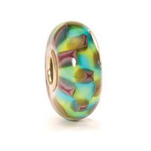 Turquoise Purple Chess  - Trollbeads Glass Bead - Centerville C&J Connection, Inc.
