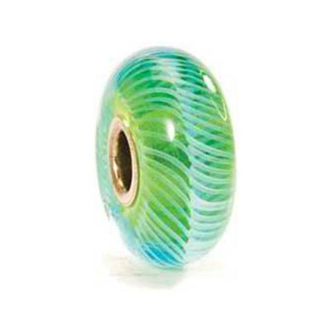 Turquoise Feather - Trollbeads Glass Bead - Centerville C&J Connection, Inc.