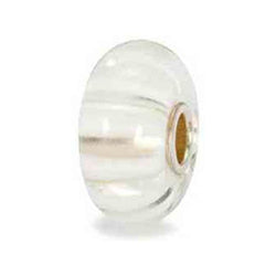 White Stripe - Trollbead Glass Bead - Centerville C&J Connection, Inc.