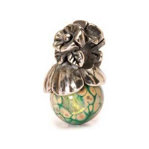 Forget-Me-Not w/ Bud -  Trollbeads Silver & Glass Bead - Centerville C&J Connection, Inc.