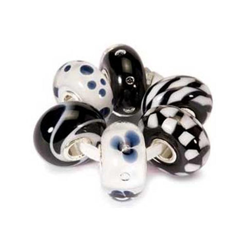 New Black & White Kit - Trollbeads Glass Beads - Centerville C&J Connection, Inc.