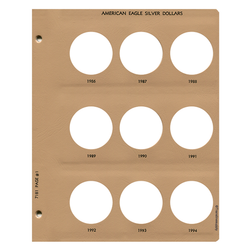 American Eagle Silver Dollars Replacement Page - Dansco Coin Albums - Centerville C&J Connection, Inc.