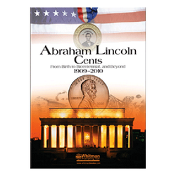 Abraham Lincoln Cents Folder, 1909 - 2010 Whitman Coin Folder - Centerville C&J Connection, Inc.