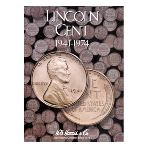 Lincoln, Part Two, 1941 - 1974 H.E. Harris Coin Folder - Centerville C&J Connection, Inc.