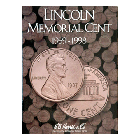 Lincoln Memorial, 1959 - 1998 H.E. Harris Coin Folder - Centerville C&J Connection, Inc.